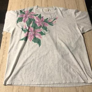 Color Wave | Mens Tropical Tee Shirt | Floral